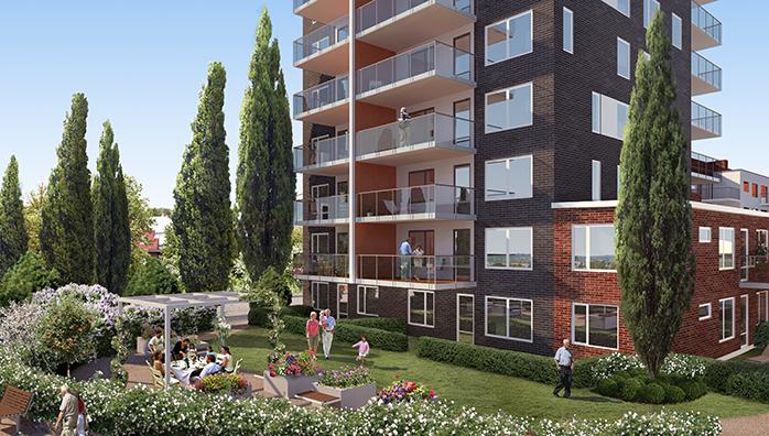 Gemensam trädgård i JMs projekt på Segestrand.